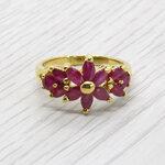 แหวนพลอยทับทิมแท้ หุ้มทองคำแท้ ไซส์ 52
