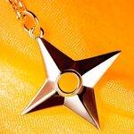 จี้เงินพร้อมสร้อยดาวกระจาย Naruto Shippuden (ของแท้ลิขสิทธิ์)
