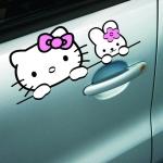 สติ๊กเกอร์ hello kitty and Rabbit (15.5x6.5 CM)