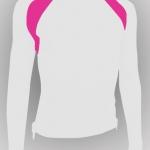 bike shirt สีขาว-ชมพู