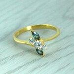 แหวนพลอยไพลินแท้ หุ้มทองคำแท้ ไซส์ 55