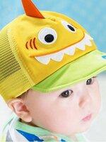 หมวกตาข่าย รูปการ์ตูน น่ารักสีเหลือง สำหรับ เด็ก6-24เดือน