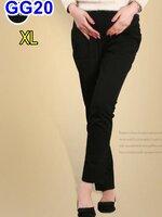 กางเกงทำงานสีดำ ไซต์XL มีผ้ารองรับหน้าท้อง มีสายปรับที่เอว