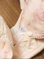 เสื้อชั้นใน สีโอรส ลูกไม้ เปิดให้นมด้านหน้า (เปิดให้นม ) ไม่มีโคลง มี 5 ไซต์ 34/75 + 36/80+38/85+40/90+42/95