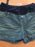 กางเกงยีนส์ขาสั้น มีผ้ารองหน้าท้อง มีสายปรับที่เอว
