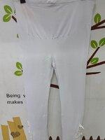 #เลกกิ้งคนท้อง กางเกงเลกกิ้งคนท้อง ขายาวสีขาว ปัดลายลูกไม้ น่ารัก ผ้าเนื้อนิ่มใส่สบาย พร้อมสายปรับที่เอว