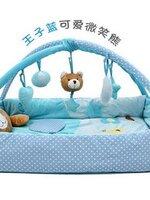 เพลยิมมาใหม่ค่ะ รุ่นน้องหมีสีฟ้า สามารถติดให้เป็นรูปกล่องได้ น้องๆ นอนตรงกลางได้สบายค่ะ เนื้อผ้ารองหนาปานกลาง มีกล่องดนตรีช่วยให้เด็กๆ เพลิดเพลิน กันเลยค่ะ