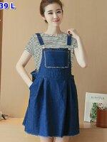 #ชุดSetเสื้อ+กระโปรงยีนต์ สไตย์เกาหลี น่ารักมากมายค่ะ เนื้อผ้าดี สวมใส่สบาย ห้ามพลาดเลยจ้า