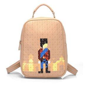 กระเป๋าแฟชั่น beibaobao สี Apricot คุณภาพดีแนวสปอร์ตเกิร์ลดูทะมัดทะแมง เปลี่ยนเป็นเป้ได้