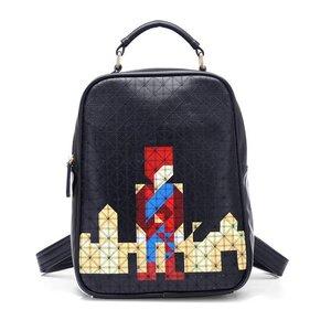 กระเป๋าแฟชั่น beibaobao สีดำ คุณภาพดีแนวสปอร์ตเกิร์ลดูทะมัดทะแมง เปลี่ยนเป็นเป้ได้