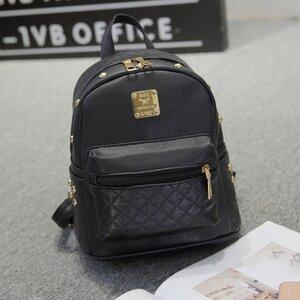 กระเป๋าเป้แฟชั่นสไตล์เกาหลี สีดำ