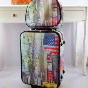 กระเป๋าเดินทางแฟชั่น As Model เซ็ทคู่ ล้อลาก ทรงสุดเท่ เน้นดีเทลและลวดลาย