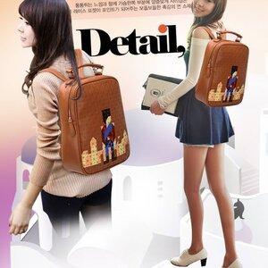 กระเป๋าแฟชั่น beibaobao สีน้ำตาล คุณภาพดีแนวสปอร์ตเกิร์ลดูทะมัดทะแมง เปลี่ยนเป็นเป้ได้