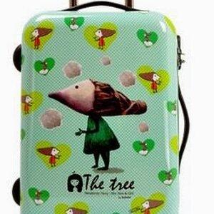 กระเป๋าเดินทางแฟชั่น INANNA ล้อลาก 20นิ้ว สีเขียว