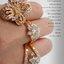 แหวนเพชรCZ เพชรสวิส แหวนหนีบพิกุล สีทอง thumbnail 6