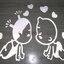 สติ๊กเกอร์ เด็กจูจุ๊บ (35*28CM) สีขาว thumbnail 3