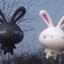 จุ๊บติดกระจก Rabbit เปิดตา สีดำ (ขนาด 10*7 CM) thumbnail 1