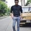 เสื้อเชิ้ตคอจีนสีดำ คอสีเทา thumbnail 6