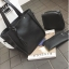 Set 3 ใบ กระเป๋าสะพายใบใหญ่ ใบเล็ก และกระเป๋าสตางค์ สีเทา สีดำ thumbnail 5