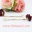 ต่างหูดอกไม้ผ้าสีไวน์แดง ระย้าสร้อยเพชรปลายมุก thumbnail 3