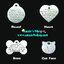 ป้ายชื่อสัตว์เลี้ยงทรงหัวใจ มีให้เลือก 4ไซส์ รุ่น Stainless : Made to Order .. Made in US thumbnail 2
