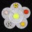 สติ๊กเกอร์ 3D ลูกฟุตบอลเหลืองปากระจกแตก thumbnail 2