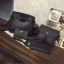 Set 4 ใบ-กระเป๋าสะพายหนังทรงสวย สีดำ