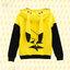 เสื้อฮู้ดกันหนาวปิกาจู โปเกม่อน Pokemon(สีเหลือง)