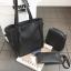 Set 3 ใบ กระเป๋าสะพายใบใหญ่ ใบเล็ก และกระเป๋าสตางค์ สีเทา สีดำ thumbnail 3
