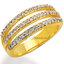 แหวนเพชรCZ เพชรสวิส แหวน Skyline สีทอง thumbnail 1
