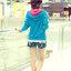 เสื้อกันหนาวแฟชั่นสีฟ้าแขนยาว ติดซิปด้านหน้า มีฮูดด้านหลัง [[ L ]] thumbnail 7