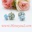 ต่างหูดอกไม้สีฟ้าตุ้มหลังใหญ่ thumbnail 3