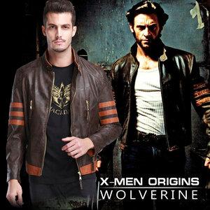 เสื้อแจ๊คเกตหนัง X-Men Wolverine