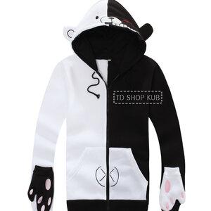 เสื้อกันหนาวลายหมี Monokuma (ขาวดำ)