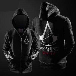 เสื้อฮู้ดกันหนาว Assassin Creed 2016 (สีดำ)
