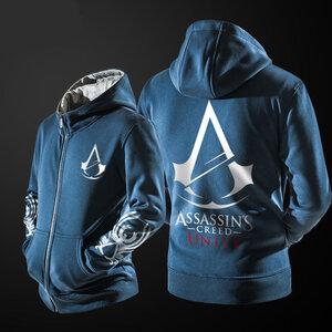 เสื้อฮู้ดกันหนาว Assassin Creed 2016 (สีน้ำเงิน)