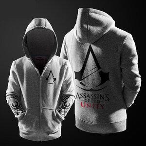 เสื้อฮู้ดกันหนาว Assassin Creed 2016 (สีเทา)