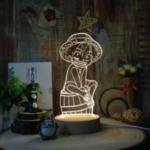 โคมไฟ 3D DIY LED Onepiece (ลูฟี่)