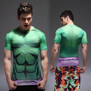 เสื้อยืดสำหรับใส่เล่นกีฬา ลาย Hulk (แบบที่ 1)