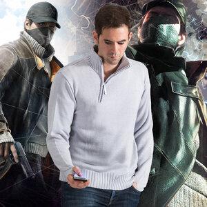 เสื้อถักกันหนาว Aiden Pearce (Watch Dogs)