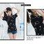 เสื้อยืดแขนสั้นลายสกีน คุมะมง Kumamon (แบบที่ 2) thumbnail 3