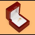 กล่องไม้ใส่แหวน ทำสีเคลือบเงาสวยมากๆ