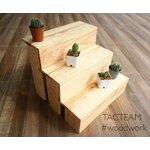 ชั้นวางโมเดล/ตุ๊กตาจิ๋ว/ของสะสม อเนกประสงค์ ไซส์L งาน Mini-Furniture ไม้สนเก๋ๆ สำหรับวางตุ๊กตา โมเดล/ของสะสมอเนกประสงค์ต่างๆ ผลิตและจัดจำหน่ายโดย... TACTEAM #woodwork