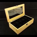 กล่องใส่นาฬิกา งานไม้สนบุกำมะยี่สีดำ 10 เรือน (ตัวล็อกกุญแจ) สินค้าพร้อมส่ง จัดส่งฟรี