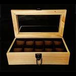 กล่องใส่นาฬิก่งานไม้สน ภายในบุกำมะหยี่สีน้ำตาล มีกุญแจล็อกแบบวินเทจ (มีสินค้าพร้อมส่ง)