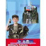 ชุดแฟนซีคุณทหารพราน สีเขียว (เสื้อแจ๊คเก็ต+หมวก+อุปกรณ์ทั้งหมด) ขนาดฟรีไซด์สำหรับเด็ก 100-130 ซม.