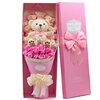 ช่อดอกไม้ตุ๊กตาหมี (บรรจุกล่อง)