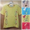size48-54 แบรนด์ Shenanjgans เสื้อยืดเนื้อนิ่มเนื้อดี ปักลายดอกไม้หวานๆ สีฟ้า เหลือง ขาว และโอรส สำเนา