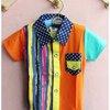 ขายส่งเสื้อเชิ๊ตหนุ่มหล่อสีส้ม kk055-55 -1
