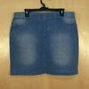 เอว 35-37 แบรนด์ส่งออก กระโปรงยีนส์คนอ้วน ผ้ายีนส์เนื้อนิ่ม เอวยางยืด เนื้อเบาสบาย สียีนส์ฟอกซีด